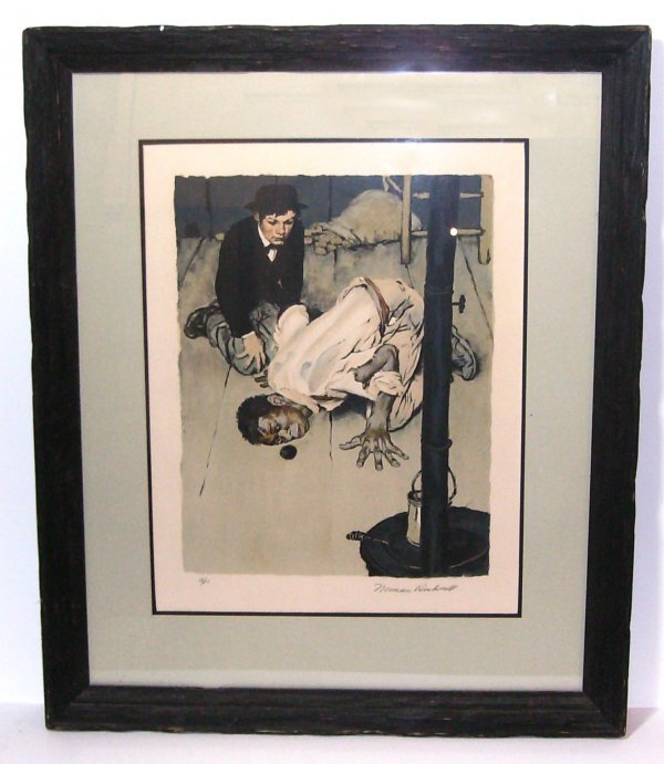 15: Norman Rockwell - Jim Takes a Look Lithograph