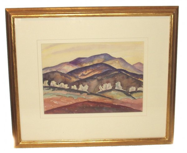 6: INA ANNETTE WATERCOLOR (American 1901-1991)