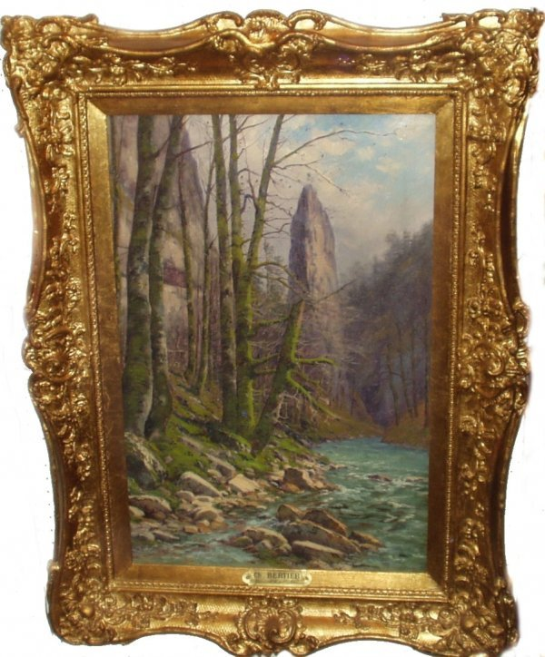 19: CHARLES BERTIER OIL ON CANVAS (French 1860-1924)