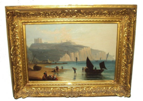85: EUGENE LOUIS ISABEY OIL ON PANEL (French 1803-1886)