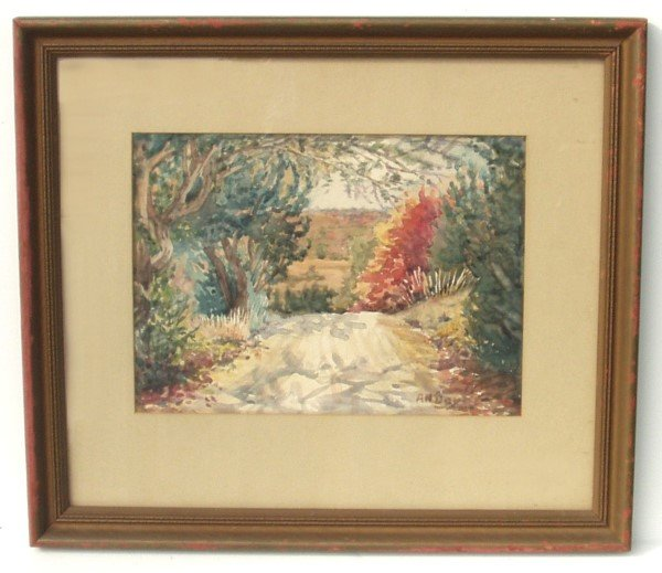 6: AGNES NELSON DAY WATERCOLOR (Amer 1885-1963)