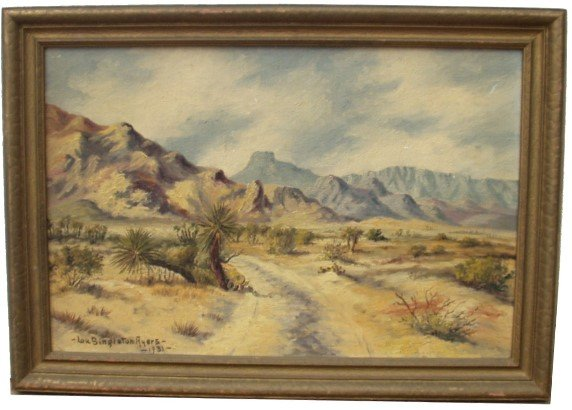 10: LOU SINGLETON AYERS SIGNED OIL ON PANEL (AMERICAN 2