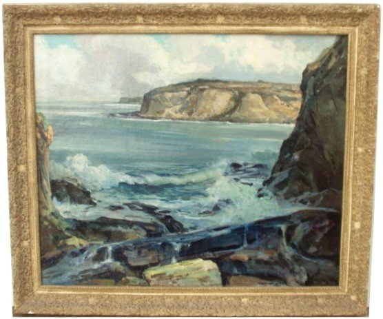 17: FREDERICK BECKER  OIL  (American 1888-1974)