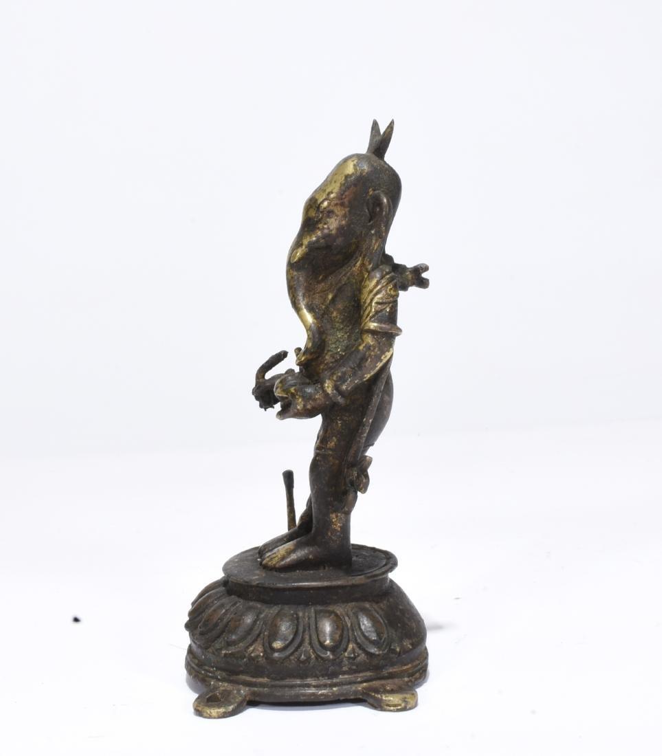 Tibet gilt bronze buddha - 3