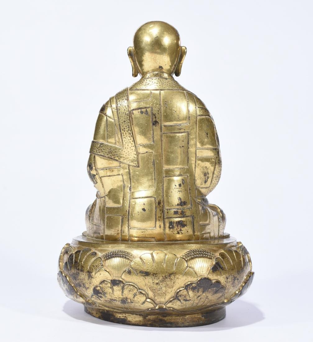 Chinese Gilt Bronze Figure of Buddha - 6