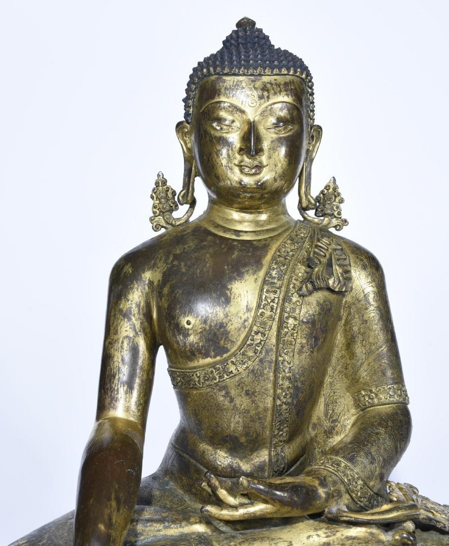 Chinese Gilt Bronze Figure of Buddha - 2