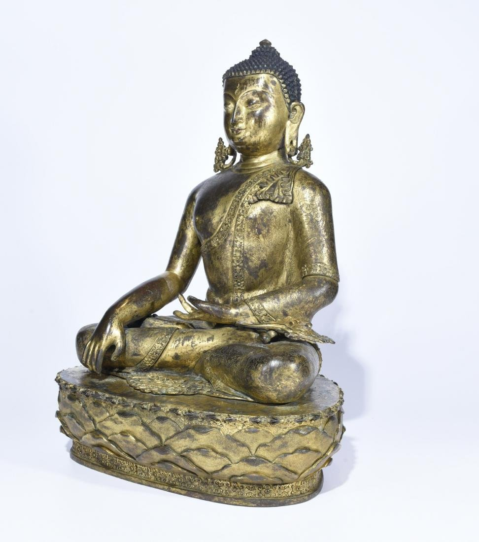 Chinese Gilt Bronze Figure of Buddha - 5