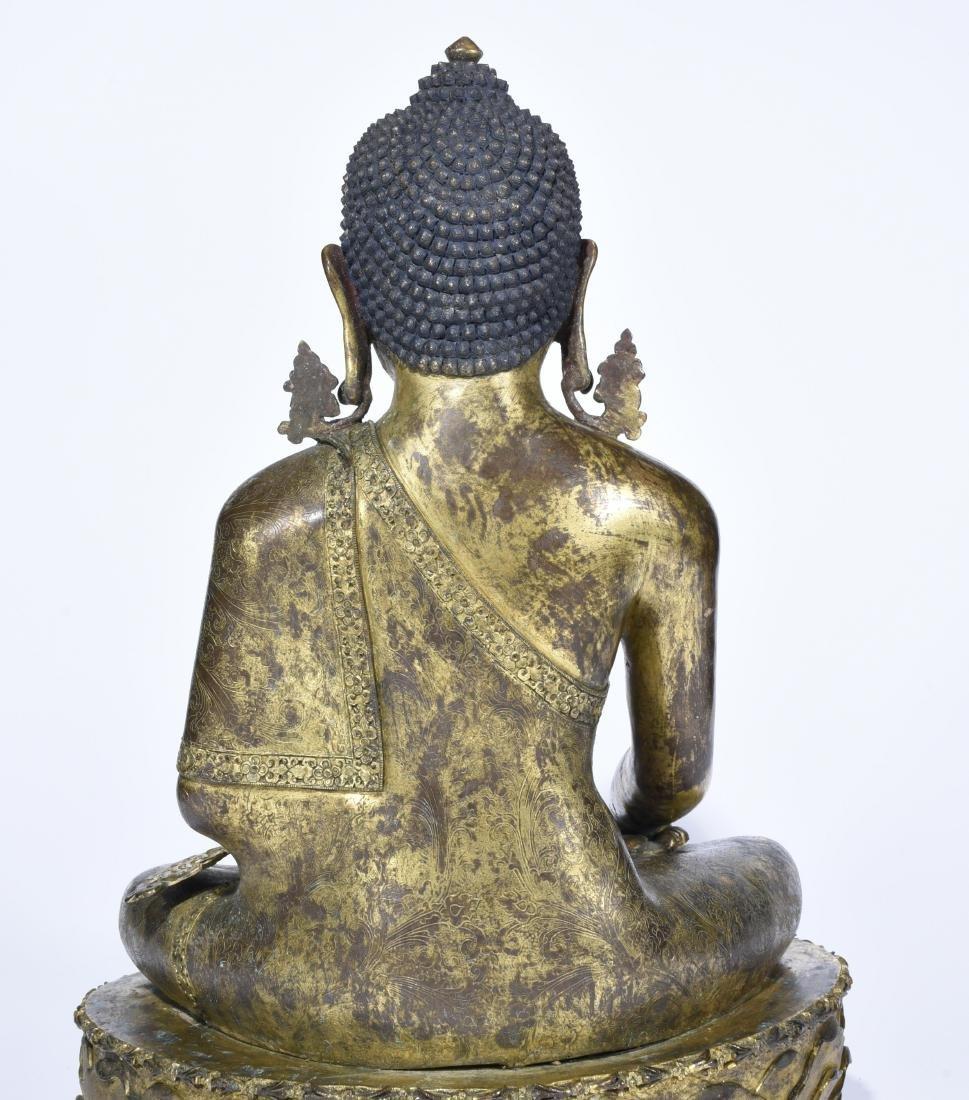Chinese Gilt Bronze Figure of Buddha - 8