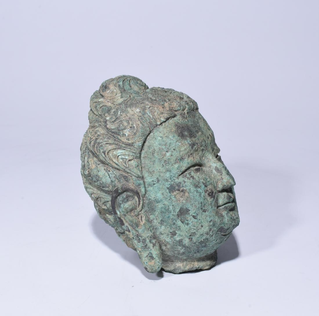Chinese Bronze Buddha Head - 5