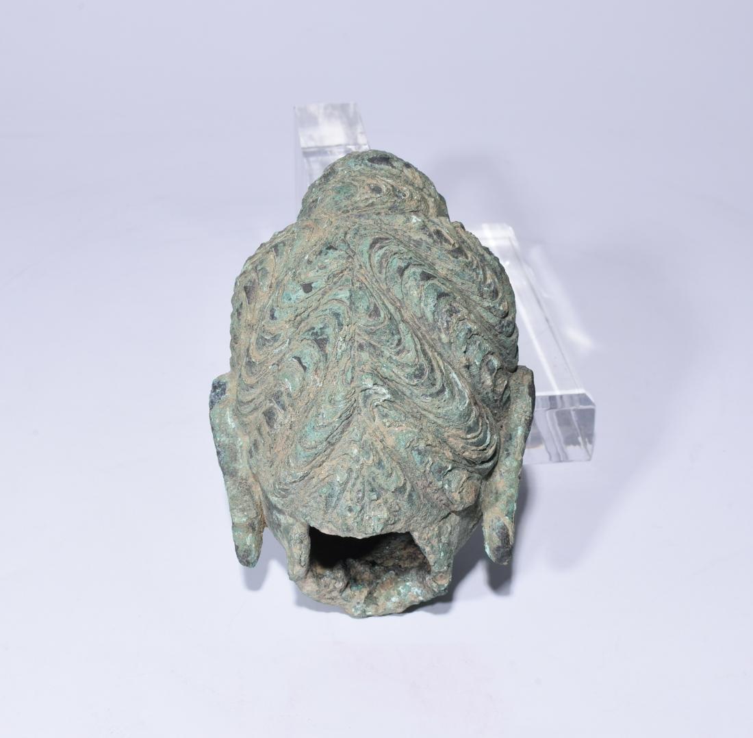 Chinese Bronze Buddha Head - 7