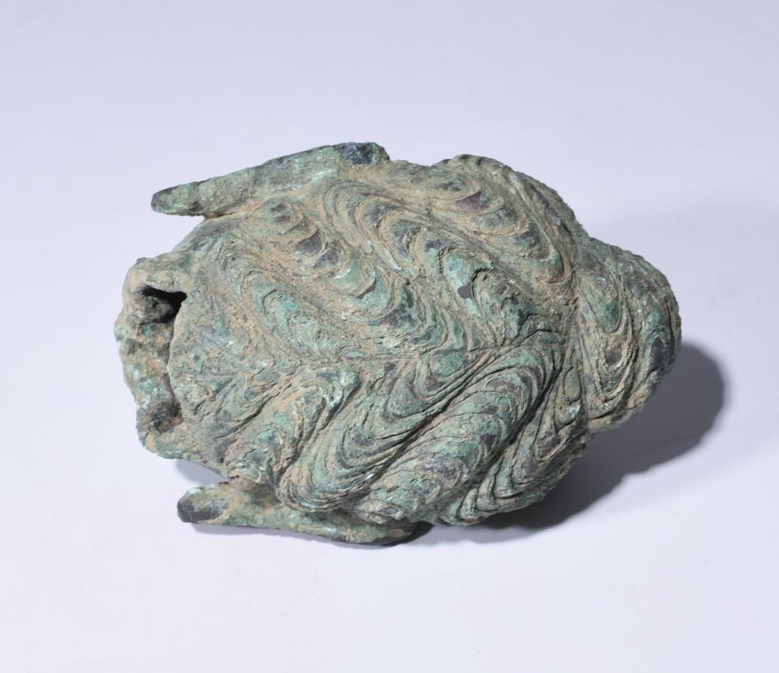 Chinese Bronze Buddha Head - 8