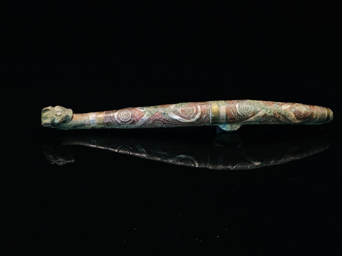 Chinese Gilt Bronze Belt Hook - 3