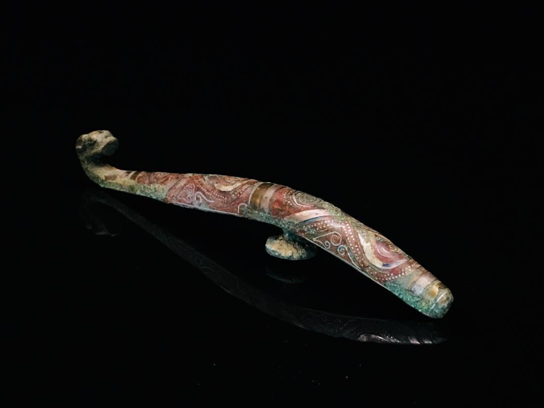 Chinese Gilt Bronze Belt Hook - 4