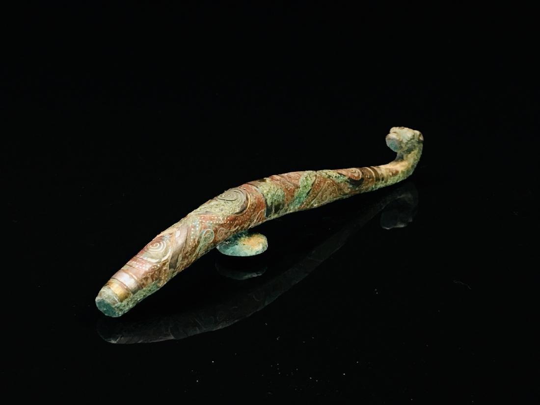 Chinese Gilt Bronze Belt Hook - 5