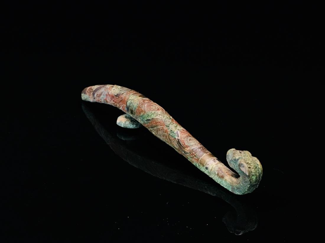 Chinese Gilt Bronze Belt Hook - 6