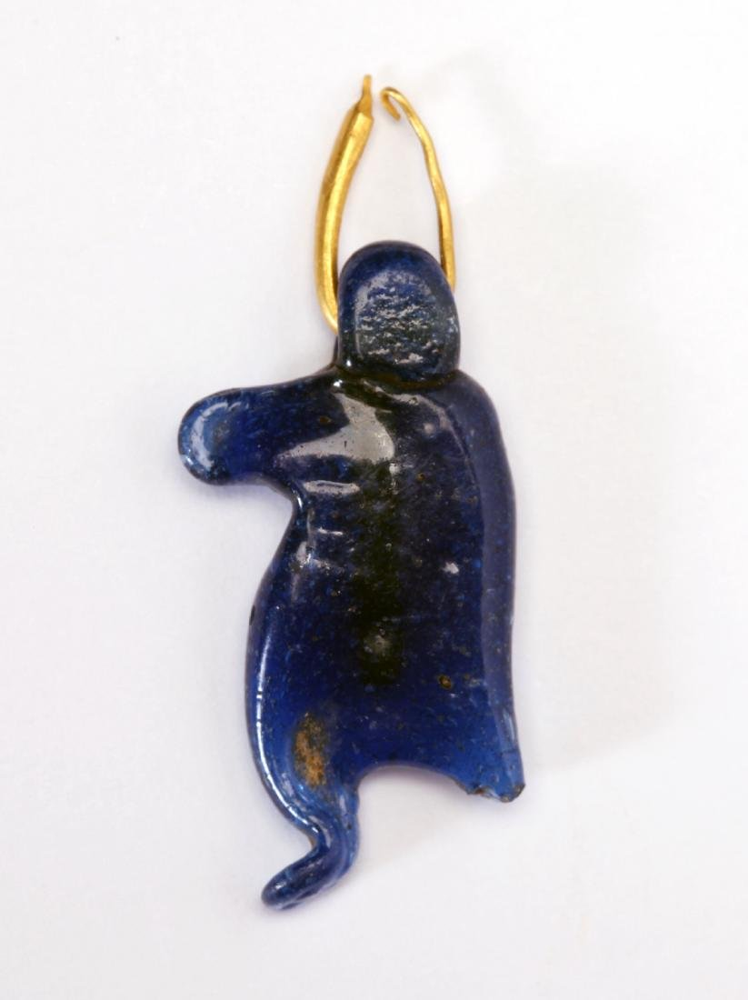 An Egyptian Glass Taweret Amulet - 2