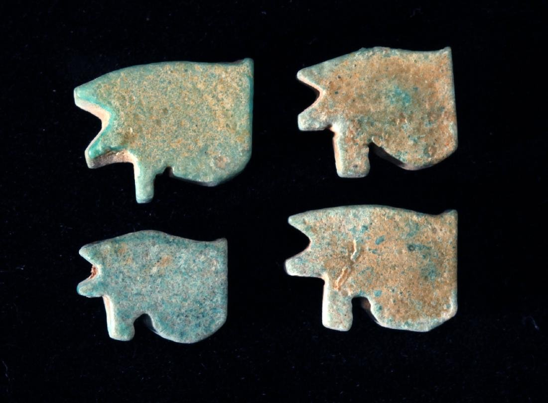 A Group of 4 Egyptian Faience Eyes of Horus - 2