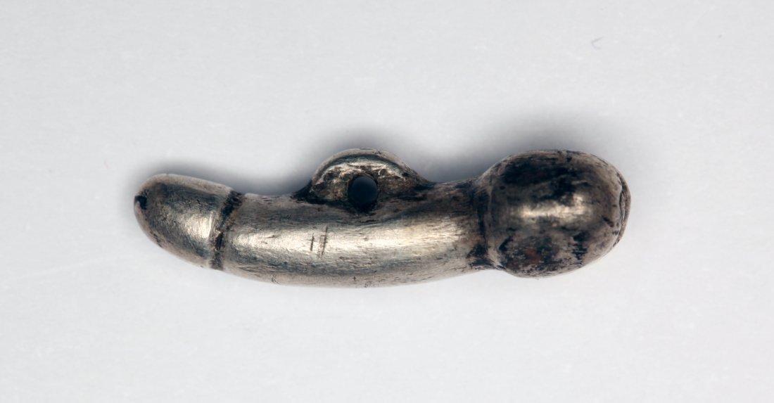 Roman Silver Phallic Amulet