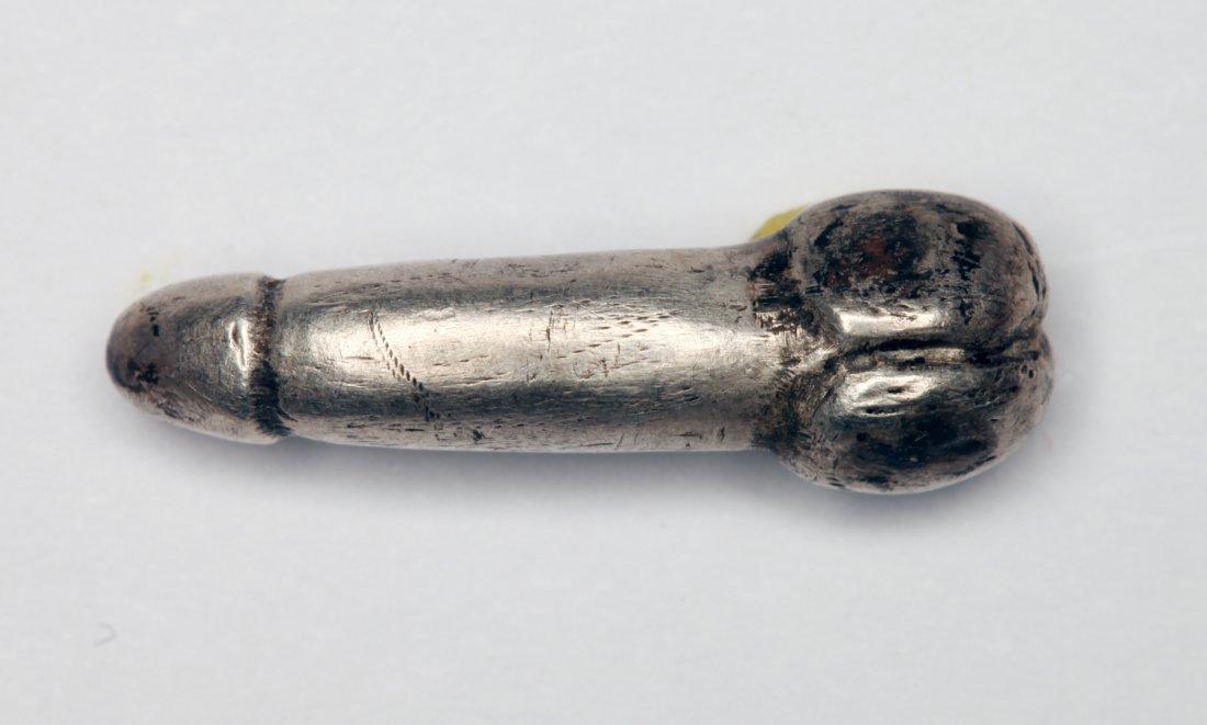 Roman Silver Phallic Amulet - 2