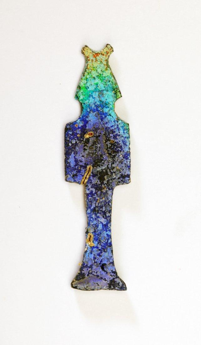 A Highly Iridescent Egyptian Glass Deity Inlay - 2