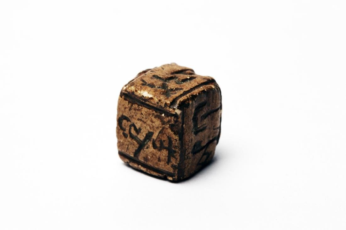 An Ancient Stone Gaming Dice (Die) - 3