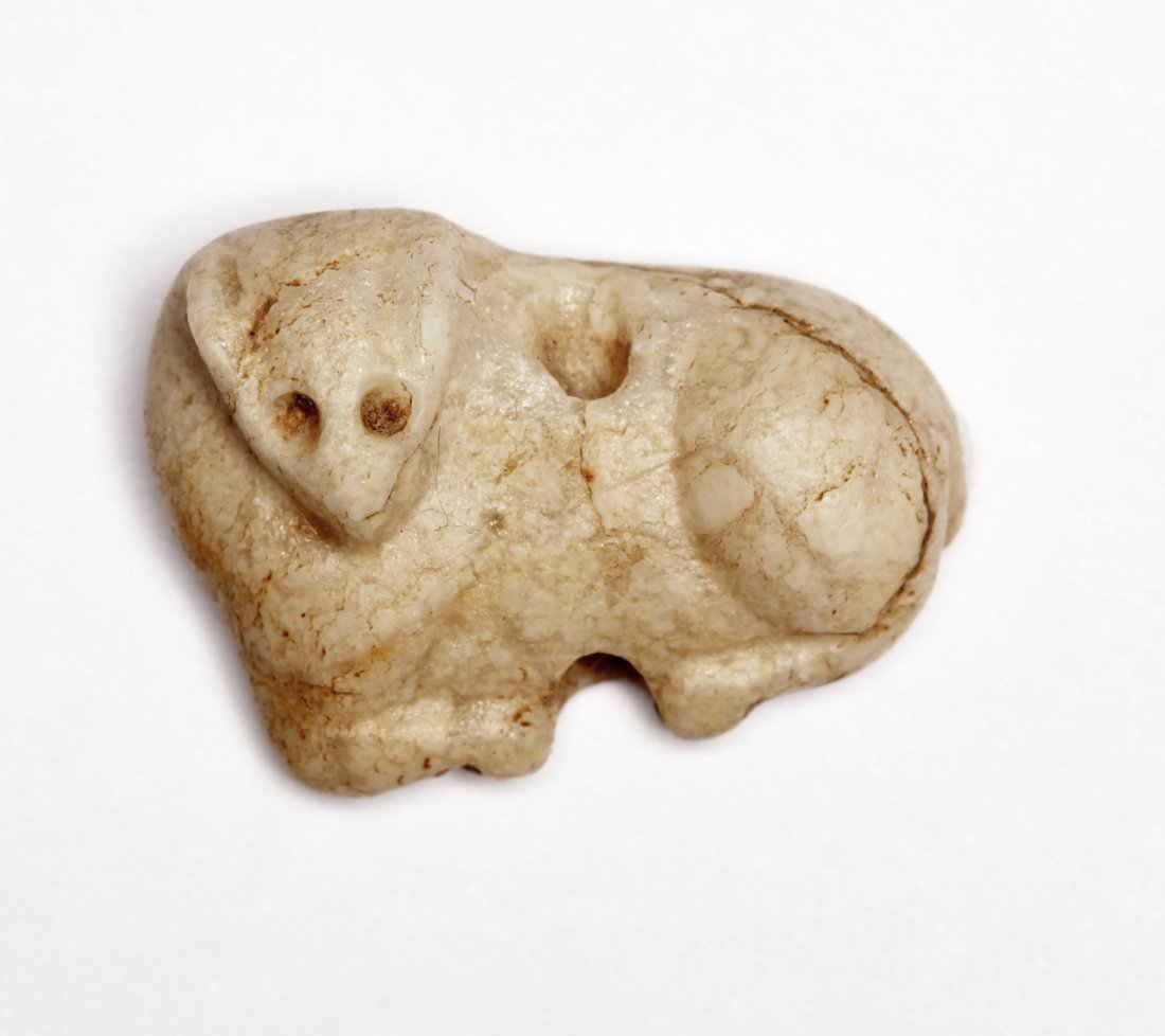 A Fine Stone Amulet of a Bull