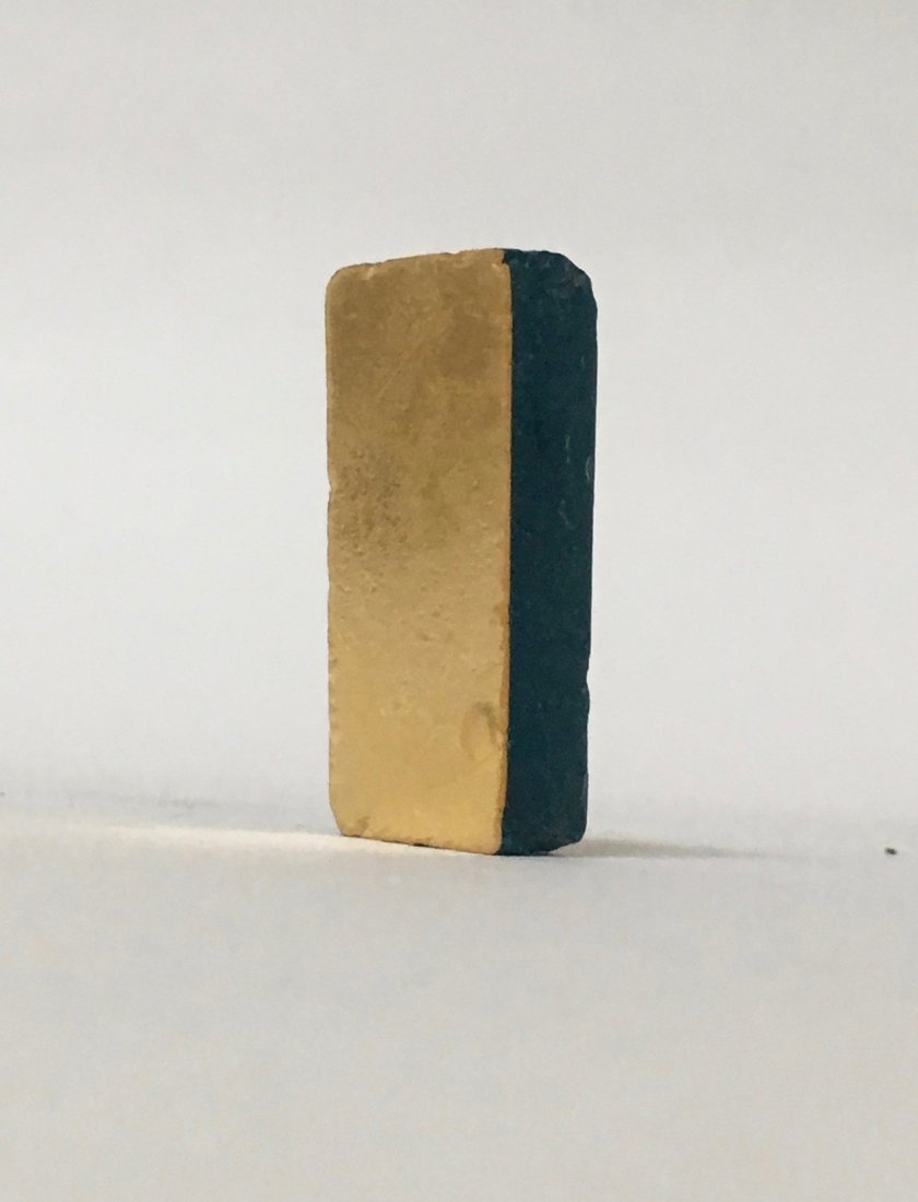 A Roman Glass Block with Gold Leaf
