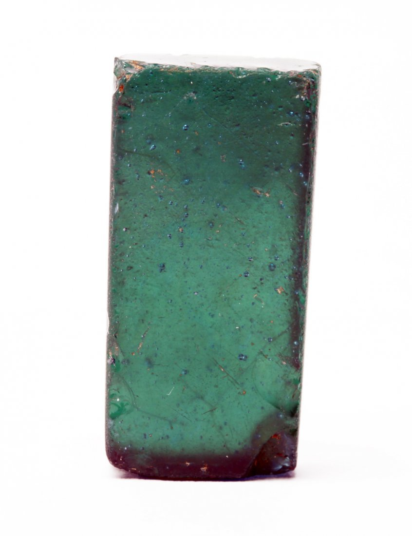 A Roman Glass Block with Gold Leaf - 4