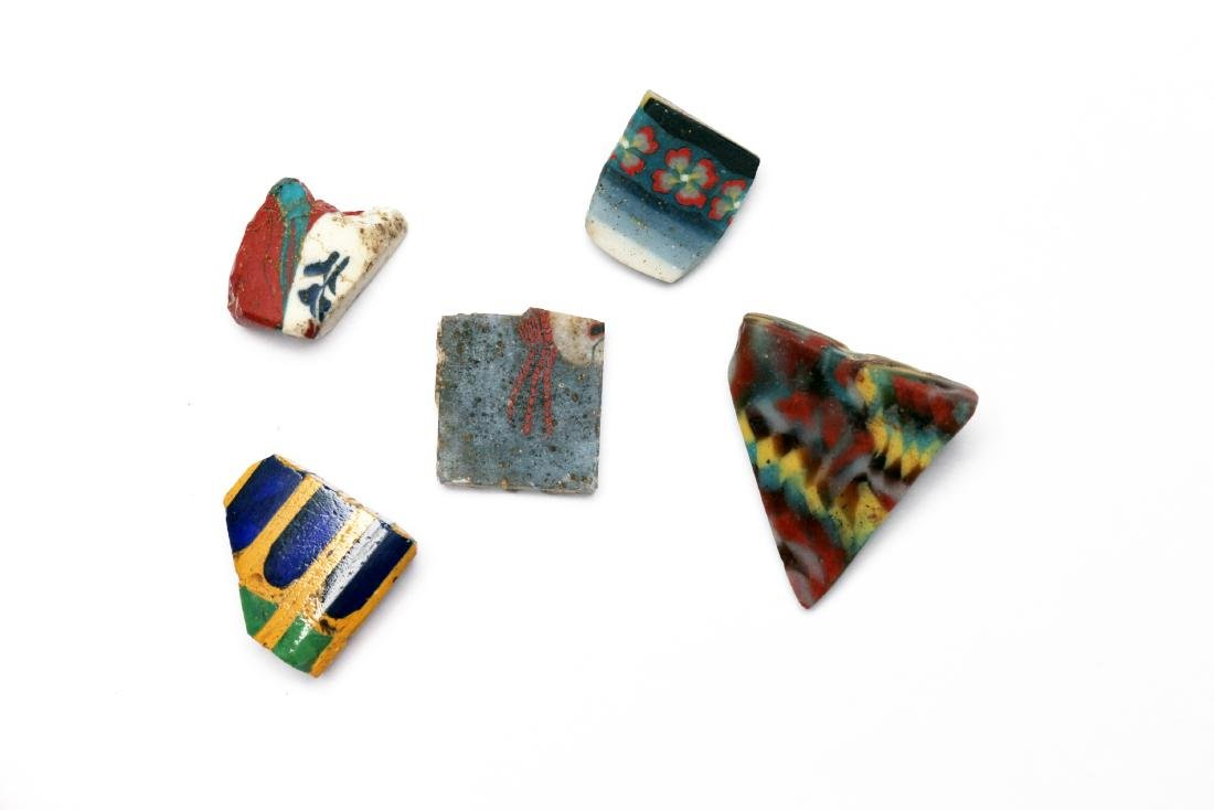 A Group of 5 Egyptian Mosaic Glass Inlays and Bars