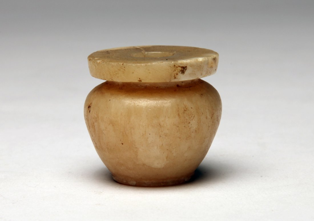 An Alabaster Kohl Pot