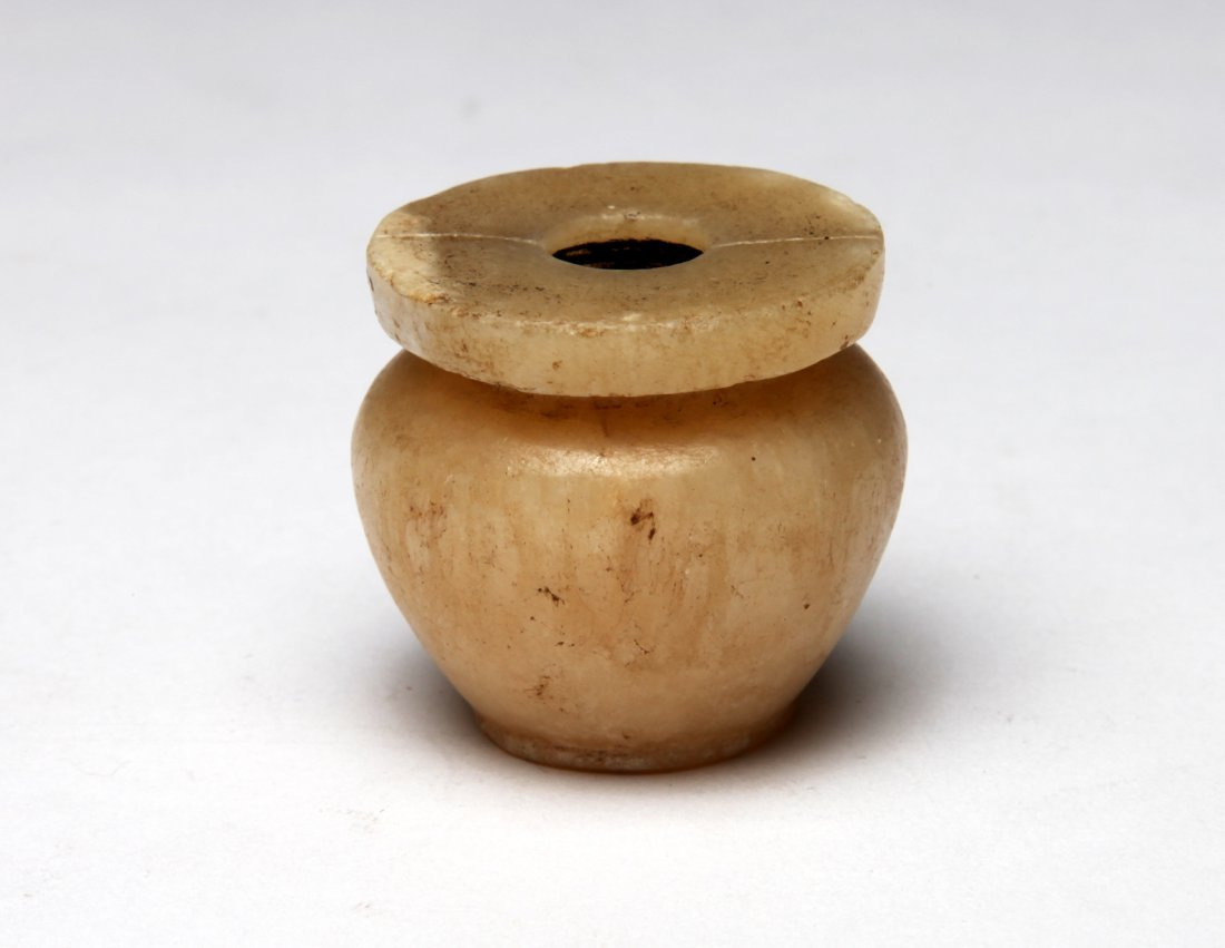 An Alabaster Kohl Pot - 2