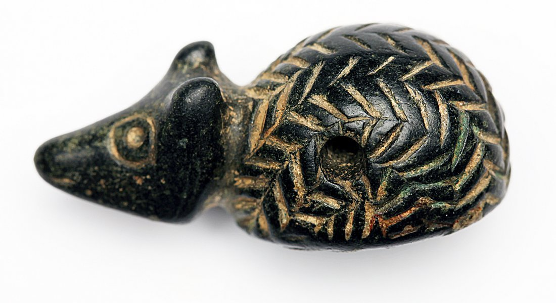 A Stone Amulet of a Hedgehog with Intaglio