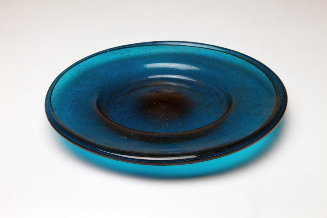 A Large Roman Blue Glass Plate
