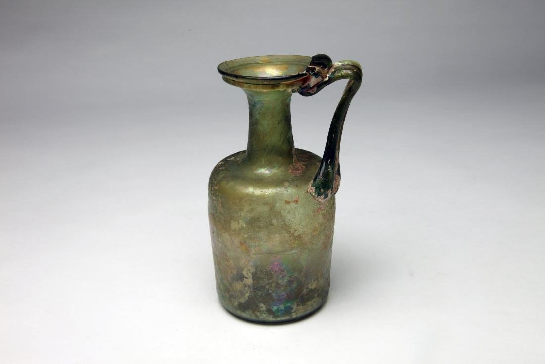 A Large Roman Glass Ewer