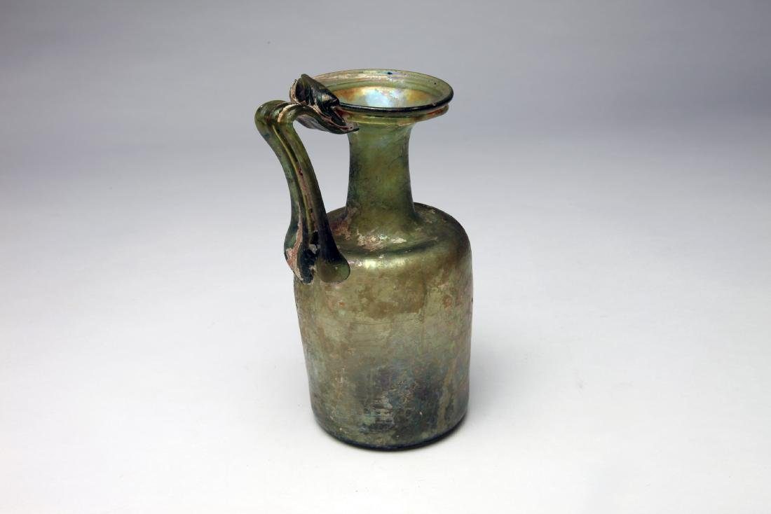 A Large Roman Glass Ewer - 2