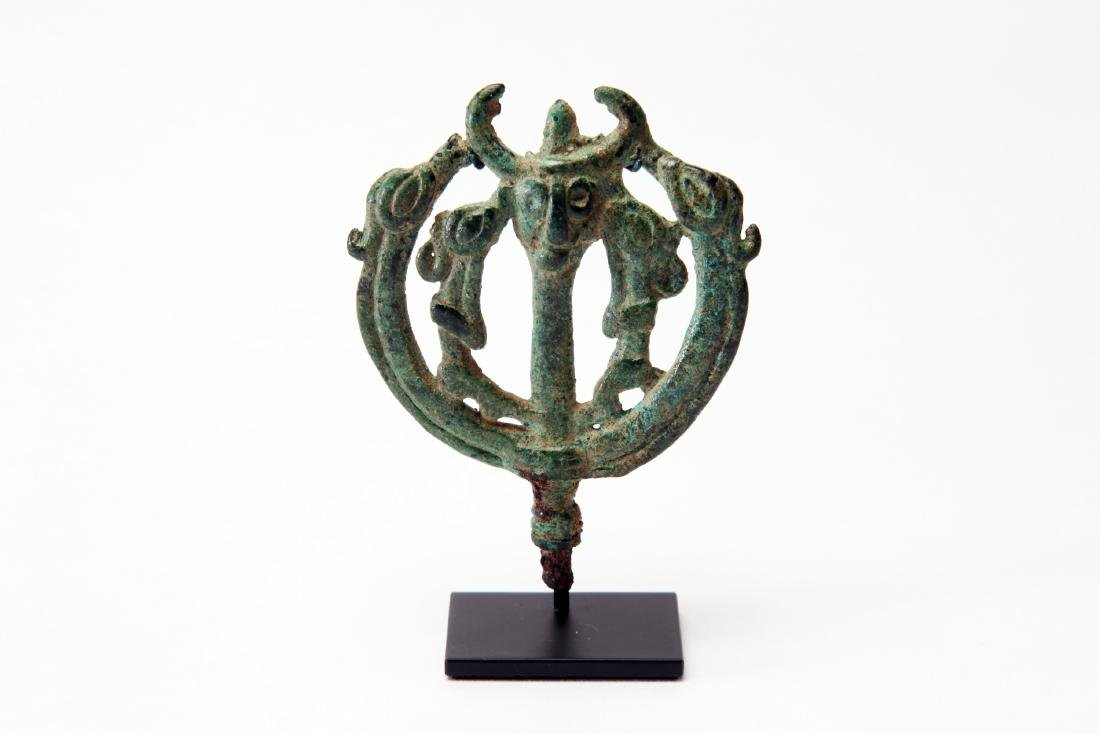 A Luristan Bronze Pin Head