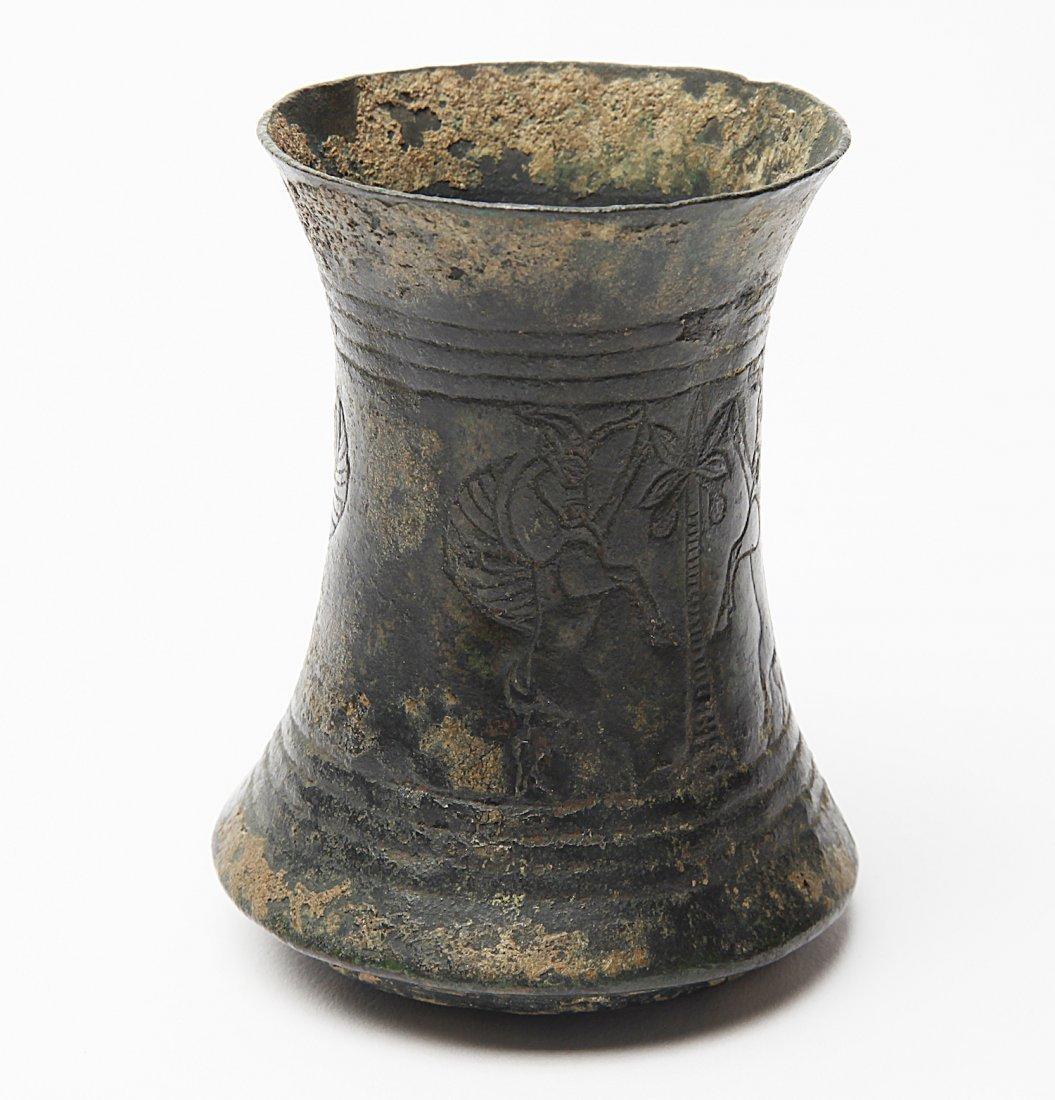 A Luristan Bronze Beaker - 2