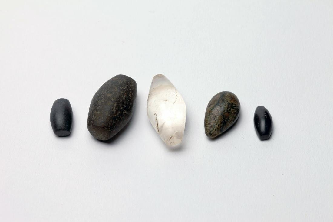 A Group of 5 Egyptian Stone Weights