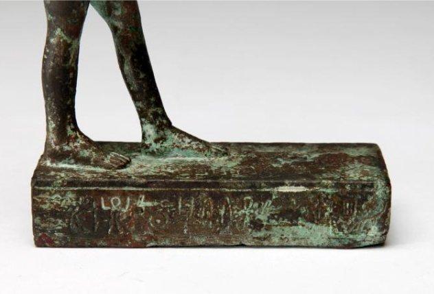 An Egyptian Bronze Figure of Striding Harpocrates - 5