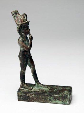 An Egyptian Bronze Figure of Striding Harpocrates - 6