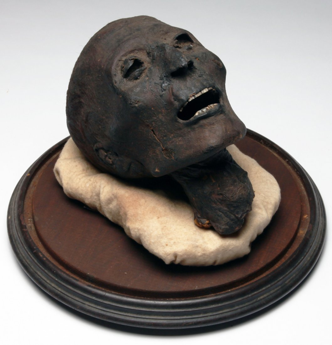An Important Egyptian Mummy Head