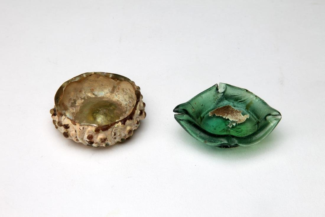 2 Small Islamic Glass Bowls