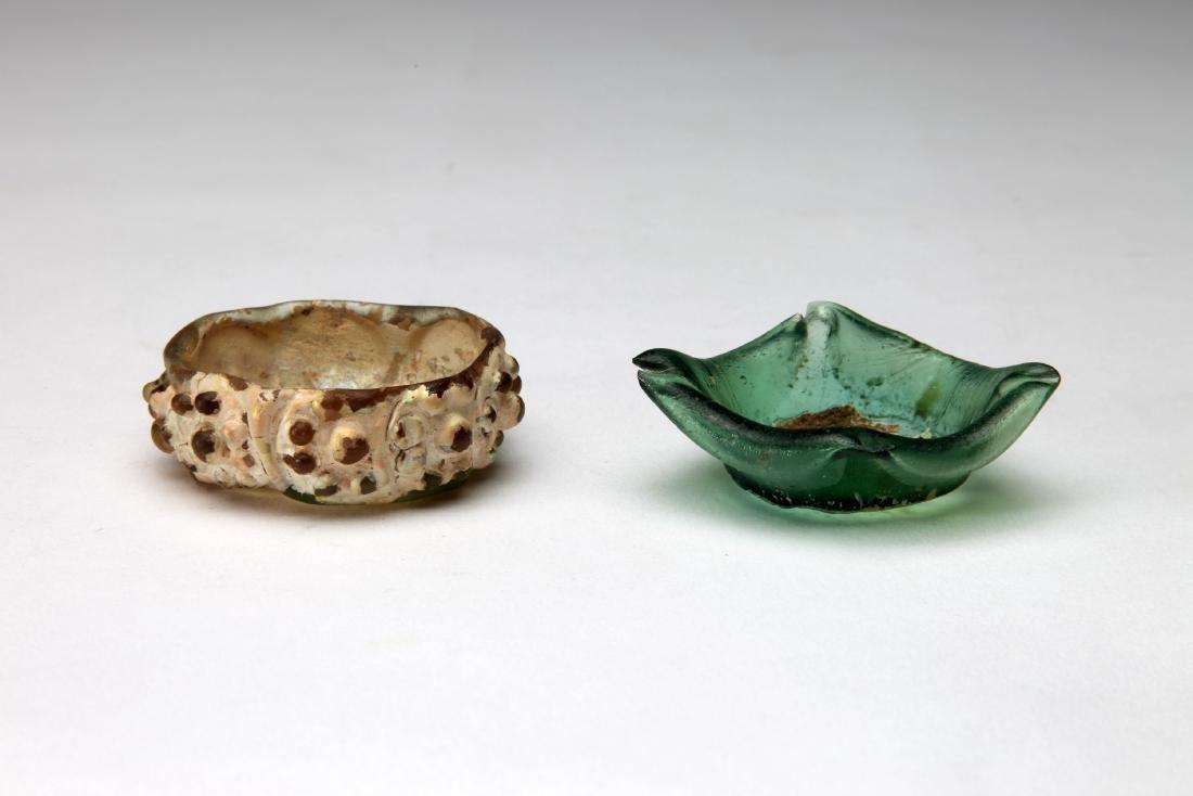 2 Small Islamic Glass Bowls - 2