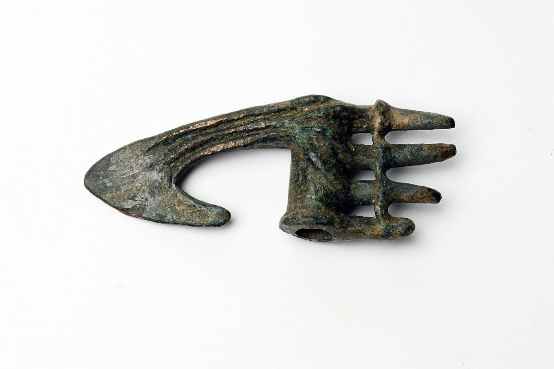 A Rare Miniature Luristan Bronze Axe Head