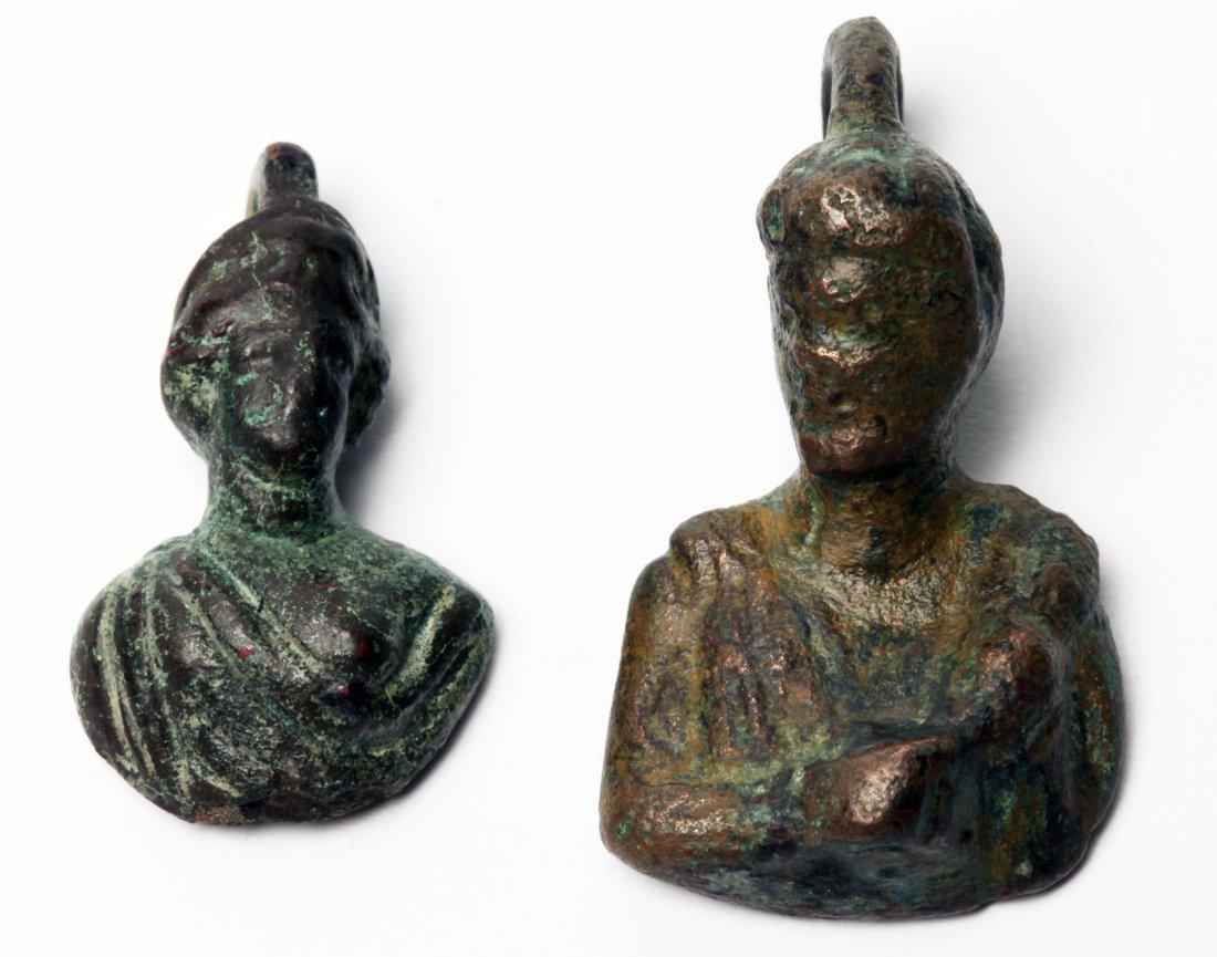 2 Roman Bronze Figural Weights - 2