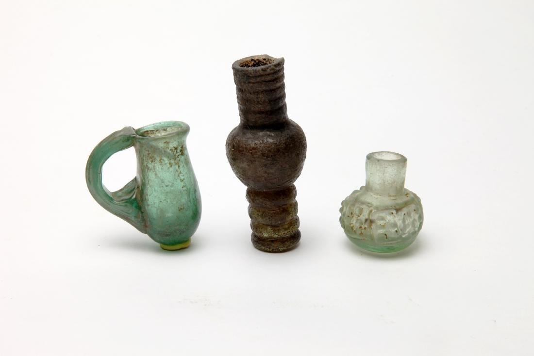 A Group of 3 Islamic Glass Vessels