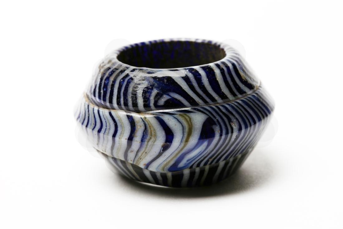 A Huge Ancient Mosaic Glass Bead or Rein Guide