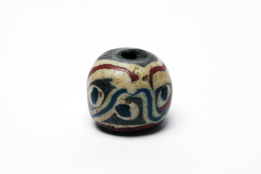 A Very Large Ancient Mosaic Glass Eye Bead