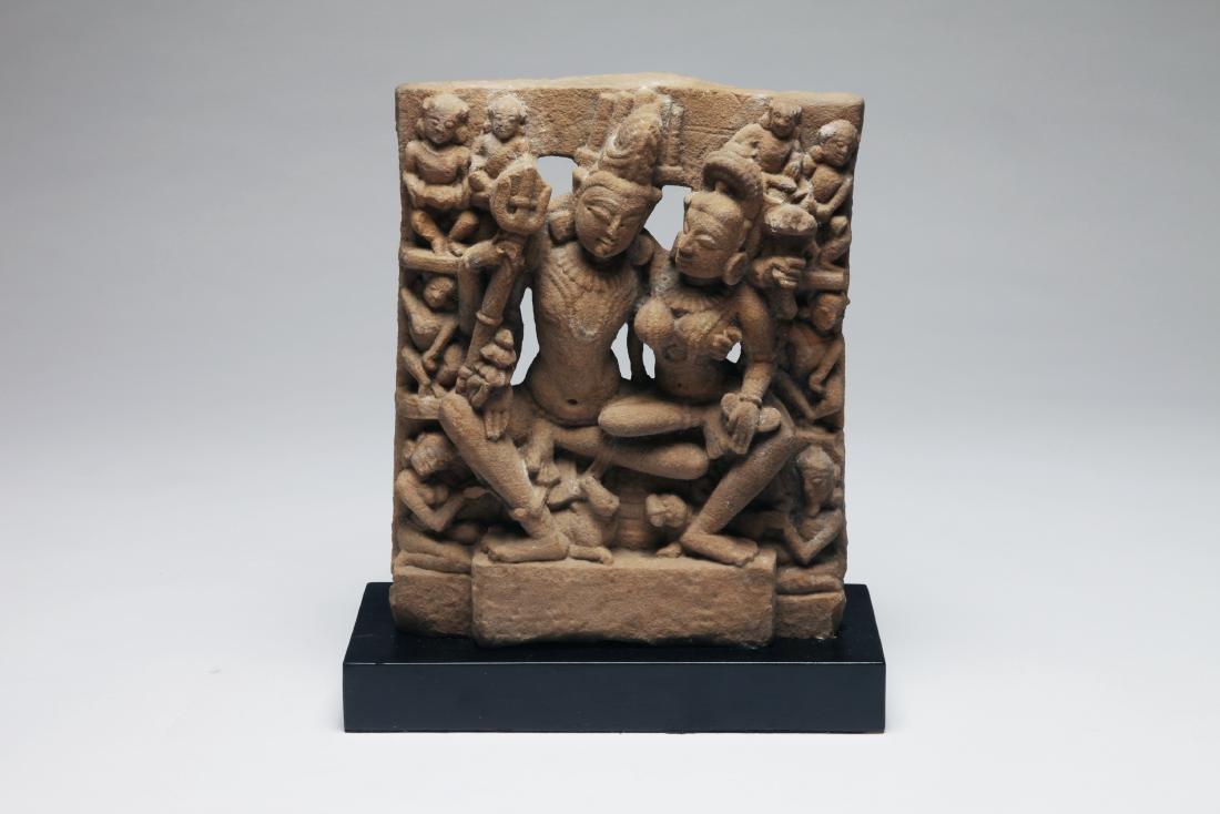 An Indian Sandstone Figure of Uma -Maheshvara