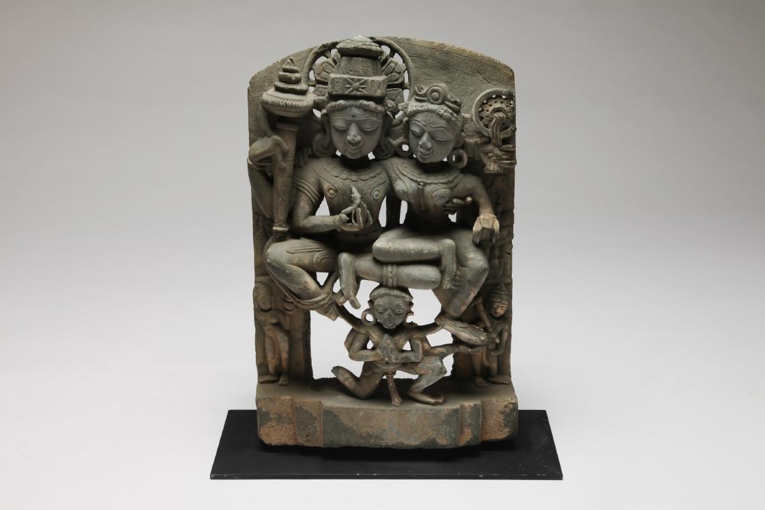 A Stone Carving of Lakshmi-Narayana